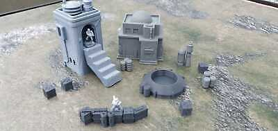 Star Wars Legion Terrain 1 Small Houses And 2 Level House With Steps + Scatter 2 • 32.99£
