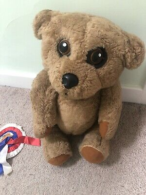 Vintage Nookie Bear With Rosette • 35£