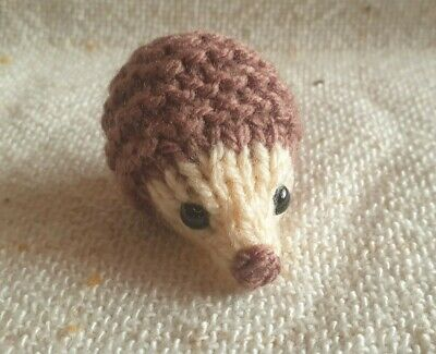 Small Hand Knitted Hedgehog • 3£