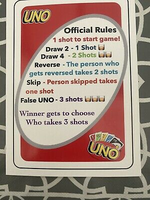 Uno Drinking Game ✅ Party Fun✅ Drunk Uno✅card Game✅fast Delivery ✅ No Glasses✅ • 2.50£