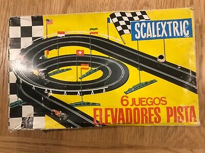 Scalextric Vintage Elevated Track Supports Spanish In Box • 2.90£