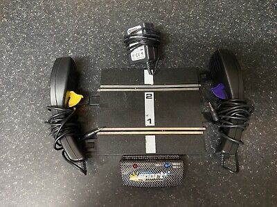 Hornby Scalextric Sport Power Base With 2 Controllers, Slot Cars • 4.99£