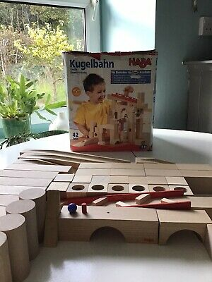 HABA Marble Run Complete With All 42 Pieces. All Parts In Perfect Condition • 25£