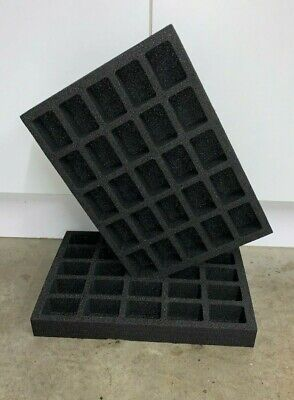 Foam Storage Tray For Miniatures 25 Locations Games Workshop Warhammer  • 10.50£