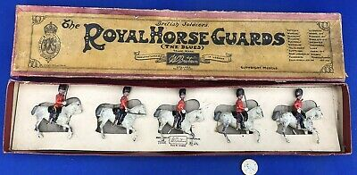 Britains Set  Scots Greys Horse Guards  Boxed Lead Toy Soldiers • 29.99£