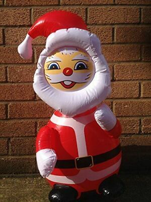 Inflatable Santa Claus / Father Christmas, Approx 60cm, Great Fun Indoor Decorat • 5.99£