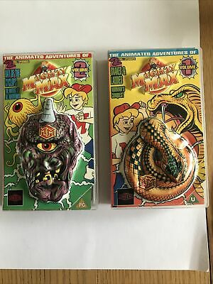 MIGHTY MAX Videos 1990s EXCELLENT CONDITION WITH 3 D Case! • 0.99£
