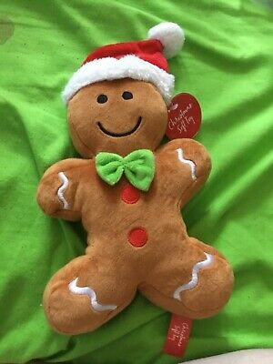 NEW Gingerbread Man In Red Christmas Hat Stuffed Toy Stuffie Gift Present • 9.99£