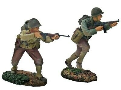 Britains 17821 Ww2 Normandy 1944 Us 30th Infantry 2 Piece 54mm Figures • 32£