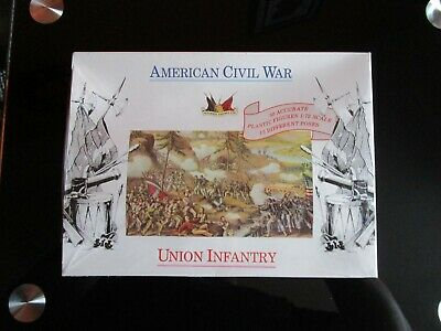 ACCURATE FIGURES LTD 1.72 Scale / AMERICAN CIVIL WAR UNION  INFANRTY / 50 Fig • 9.99£