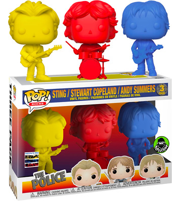 The Police Sting Copeland Summers 3 Pack Colors Funko Pop Vinyls New In Box • 68.05£