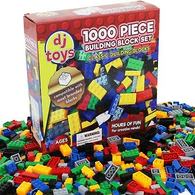 1000 Piece Building Bricks Blocks Construction Creative Toy Compatible Play Game • 12.99£