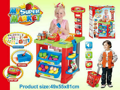 Supermarket Play Set Pretend Play  Cash Register With Light & Sound Toy For Kids • 34.99£