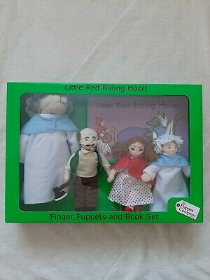 THE PUPPET COMPANY Little Red Riding Hood Puppets & Book -VGC With Box • 16£