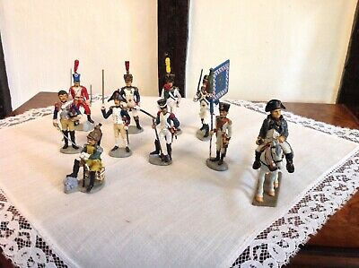 Nice Set Of 10 Napoleonic Soldiers Including Napoleon • 20£