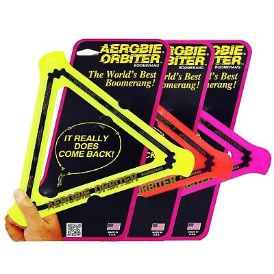 Aerobie Boomerang Orbiter Frisbee Soft Flying Ring Disc Toy Catch Outdoor Game • 7.99£