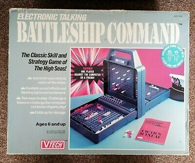 Vintage 1990 VTECH Electronic Talking Battleship Command Game Battleships  • 25£