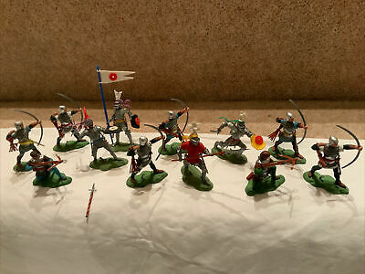 "12 Britains Herald Swoppet ""wars Of The Roses"" Figures. Painted Plastic. Ex. Con • 54.99£"