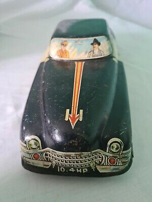 Mettoy Tin Plate Large Police Car Vintage Toy • 58£