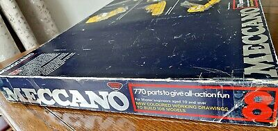 Meccano Set 8 Early 1970's Rare, Complete, Super Condition With All Manuals. • 121£