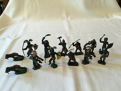 Lone Star Plastic 1.32 Scale Zulu African Native Toy Soldiers. • 12£