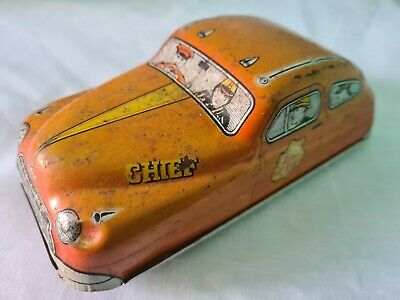 Mettoy Tin Plate Fire Dept Cheif Car Made In Great Britain Vintage Toy  • 55£