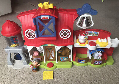 Fisher Price Little People  Caring For Animals Farm With Lights & Sounds • 14£