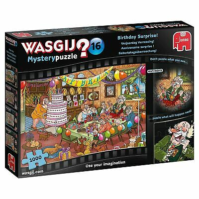 Jumbo Wasgij Mystery 16 Birthday Surprise Jigsaw Puzzle 1000 Pieces • 12.17£