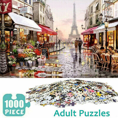 1000 Piece Paris Street Jigsaw Puzzles For Kids Adults Toys Learning Education • 9.59£