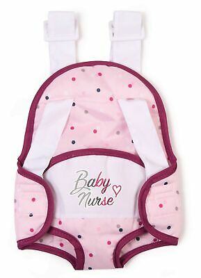 Smoby Baby Nurse 220351 Baby Carrier For Dolls And 2 Adjustable Straps • 26.64£