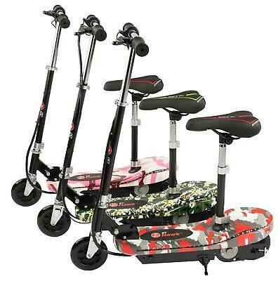 Electric E Scooter Kids Battery Ride On Toy Bike Stand Adjustable Seat 2in1 • 119.95£