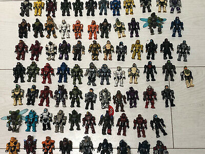 -GUARANTEED FULLY POSEABLE- 5 Random Halo Mega Construx Bloks Figures Ultra Rare • 13.99£
