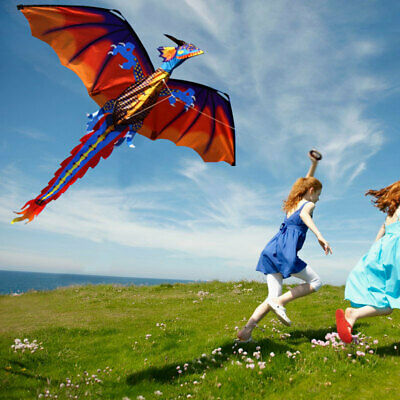 E5A2 3D Dragon Dragon Kite Empty Spaces Outdoors Good Weather Cool Multicolor • 12.88£