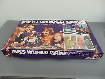 Vintage ~ DENY'S FISHER ~ Miss World Game (1970's) Board Game • 10£