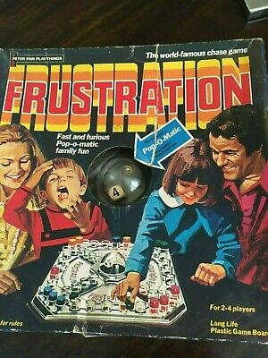 Frustration Board Game Vintage 1965 Peter Pan Playthings - Age Range From 4 Yrs • 6£