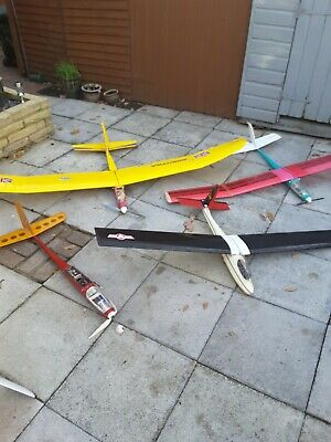 Rc Radio Controlled Plane Electric Gliders - Job Lot • 54£