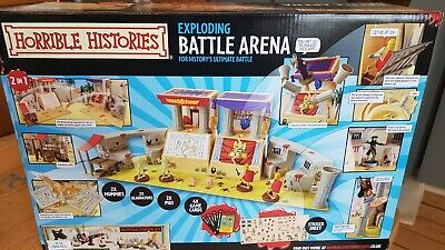 Horrible Histories Exploding Battle Arena Play Set Complete & Extra Soldier Sets • 17£
