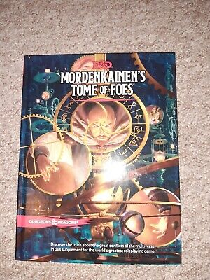 D&D Mordenkainen's Tome Of Foes Fifth Edition UNUSED DUNGEONS AND DRAGONS • 19£