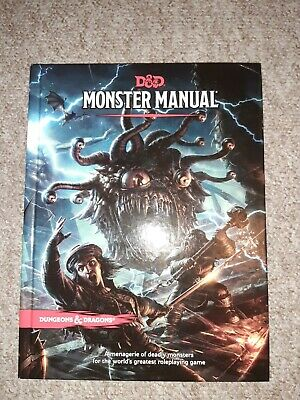 D&D Monster Manual Fifth Edition UNUSED DUNGEONS AND DRAGONS • 26£