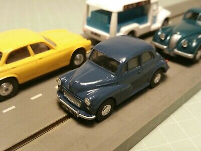 Triang Minic Motorways Pick Up Shoes & Resin Morris Minor Complete Vehicle • 52£
