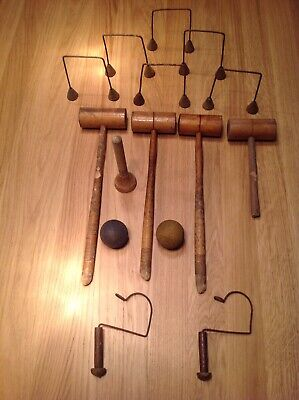 Vintage/Antique Mini Table Top Croquet Set For Use Or Spares • 10£
