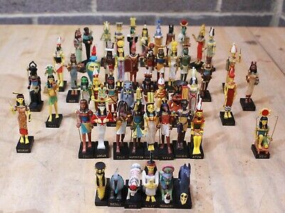 Job Lot HACHETTE The Gods Of Ancient Egypt Resin Figures - Egyptian Statues  232 • 27.50£
