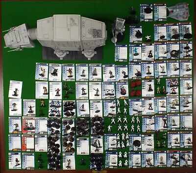 Large Lot Of Star Wars Miniatures, Cards, Sith Starter Game, 4 Maps • 199£