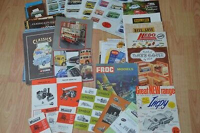 Collection Of Model Car Catalogues And Paperwork, Various Makes Mostly 70s/80s • 5£