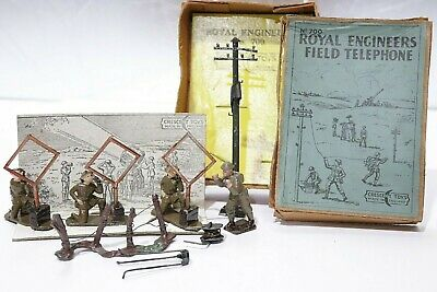 Rare 1940s Crescent Toys Solider ROYAL ENGINEERS Field Telephone #700, Boxed 254 • 21.59£
