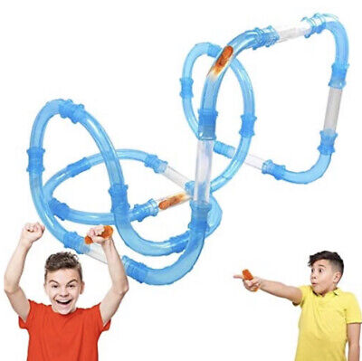 52 Piece - Tube Racer Deluxe Racing Track Car Set Kids Pack RC Toy Fast LED Car • 0.99£