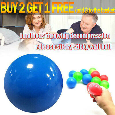 4X Sticky Ball Sticky Balls For Ceiling Stress Relief Globbles Stress Kid Toy • 4.99£