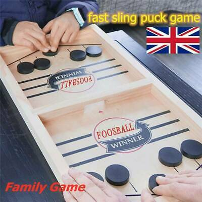 Child Fast Sling Puck Game Paced Winner Board Games Family Games Gift Double Toy • 7.99£