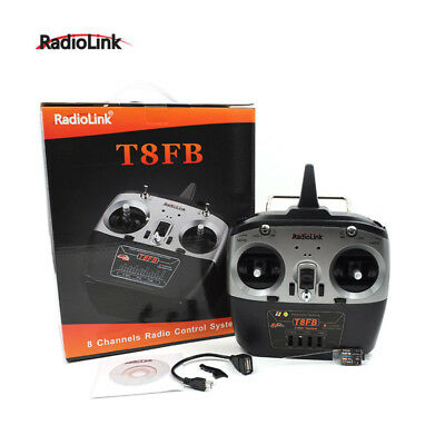 RC Drone Helicopter Radiolink T8FB 2.4Ghz 8CH Transmitter With R8EF Receiver UK • 35.99£