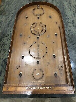 RARE VINTAGE 30s 40S JOHN JAQUES LONDON HIT-A-PIN BAGATELLE • 30£